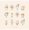 ice cream icon set vector image