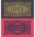 Retro cards and door signs Organized by layers vector image
