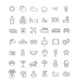 summer vacation travel thin line icons vector image