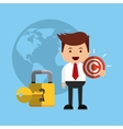 businessman avatar with copyright concept vector image