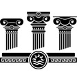 ionic columns and pattern stencil vector image