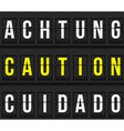 Caution message on timetable vector image