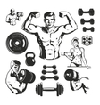 Gym Fitness Elements Set vector image vector image