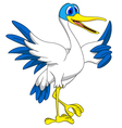 White stork thumb up vector image vector image