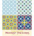 Seamlessly Tiling Moorish Patterns Set vector image