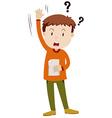 Little boy asking question vector image