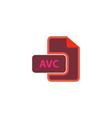 AVC Icon vector image