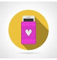 Cell phone case flat icon vector image