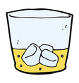 comic cartoon whiskey in glass vector image