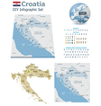 Croatia maps with markers vector image