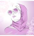 Fashion gorgeous woman portrait vector image