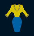 icon in flat design fashion clothes office dress vector image