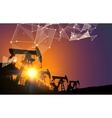 Oil pump industrial vector image