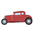 Old hot rod vector image