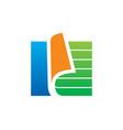 Paper document data storage logo vector image