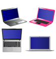 Set of laptop computers vector image
