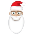 Smiling Santa vector image