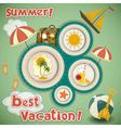 Summer Vacation Travel Card vector image