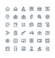 thin line icons set with real estate vector image