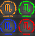 Scorpio icon Fashionable modern style In the vector image