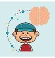 boy cartoon brain idea vector image