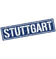 stuttgart blue square stamp vector image