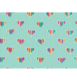 pattern hearts vector image