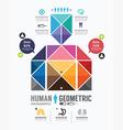 Infographic human geometric Design vector image vector image