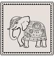 Ethnic elephant Indian style vector image