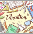 back to school education concept hand drawn vector image