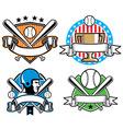 Baseball emblem set vector image