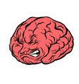 brain character pain vector image