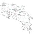 Costa Rica Black White Map vector image