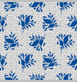 japanese pattern in blue and gray colors vector image