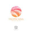 logo tropicana spa leaves vector image
