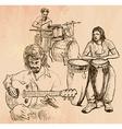 Music band - An hand drawn vector image