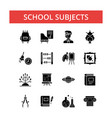 school subjects thin line icons vector image