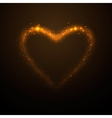 shine glow gold heart vector image