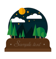 Summer night camping landscape vector image
