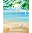 Summer tropical poster design vector image