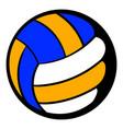 volleyball ball icon icon cartoon vector image