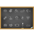 Food icon on blackboard vector image