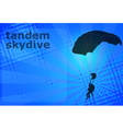 skydiving tandem vector image