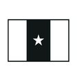 Flag of Guinea-Bissau monochrome on white vector image