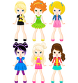 characters girls vector image
