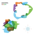 Abstract color map of Andorra vector image vector image