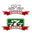 Jackpot casino icon with winning triple seven vector image vector image