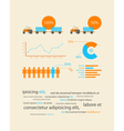 infographics business data vector image vector image