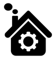 Smoking Factory Flat Icon vector image