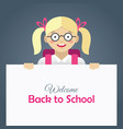 cute happy little girl in glasses vector image